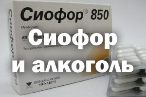 Сиофор и алкоголь