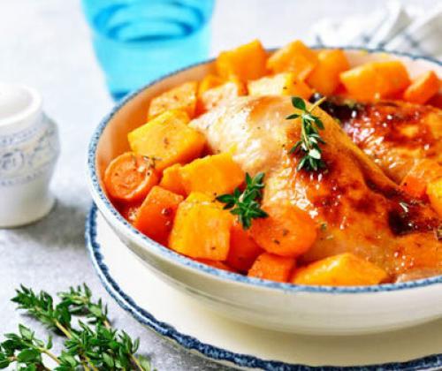 Курица с тыквой диетический рецепт. Вторые блюда с тыквой
