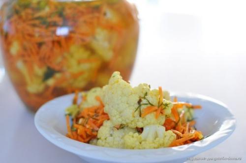 Цветная капуста по корейски. Рецепты цветной капусты по корейски с фото и видео