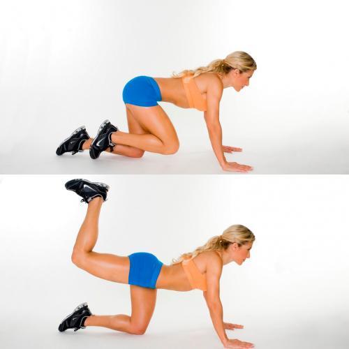 Упражнения для ягодиц в домашних условиях для женщин 50 лет. Упражнения на большую ягодичную мышцу